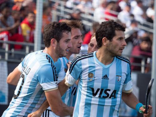 De Argentijnse speler Agustin Bugallo verliest met Argentinië op de Champions Trophy van Oranje.