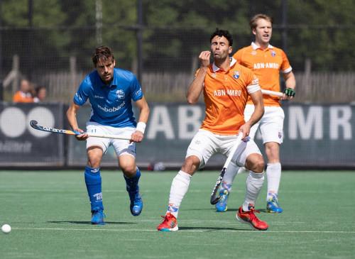 Afgelopen seizoen won Schuurman met HC Bloemendaal de landstitel ten koste van Kampong. Foto: Roel Ubels