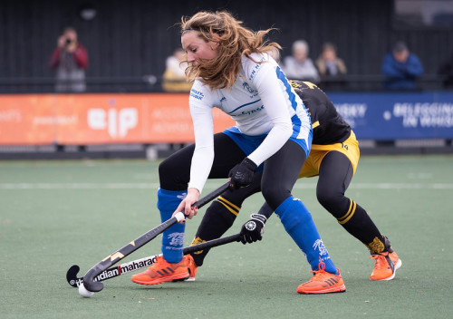 Lisa Gerritsen werd topscorer, maar neemt afscheid door haar zwangerschap. Foto: Roel Ubels