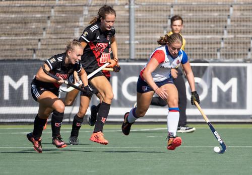 Net zoals Langejans, maakte Mette Winter de overstap van Deventer naar Zwolle naar SCHC. Winter heeft nog jeugdleeftijd en speelt komend seizoen nog bij meisjes A. Foto: Roel Ubels