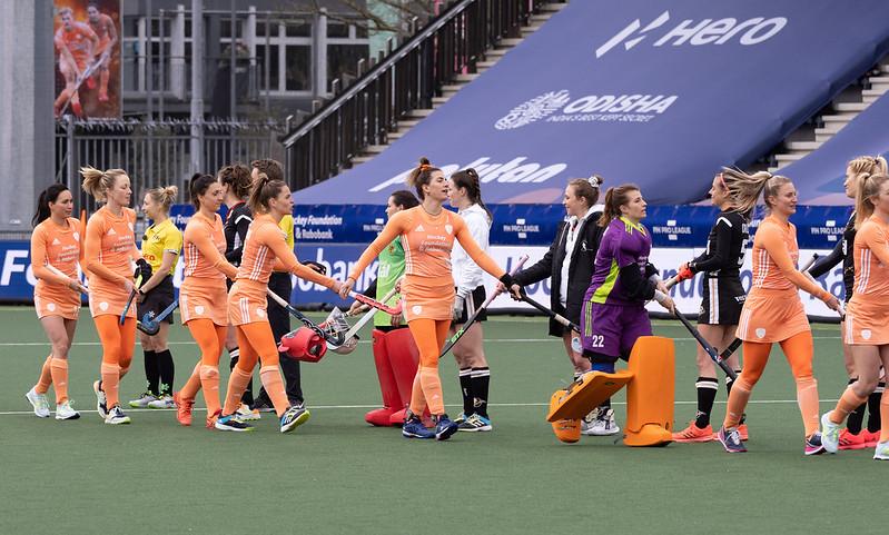 De line-up van Oranje afgelopen zaterdag.