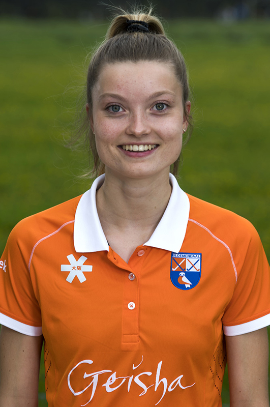 BLOEMENDAAL - Anne Abendroth (Bldaal)  . Bloemendaal  Dames I seizoen 2018/2019. COPYRIGHT KOEN SUYK