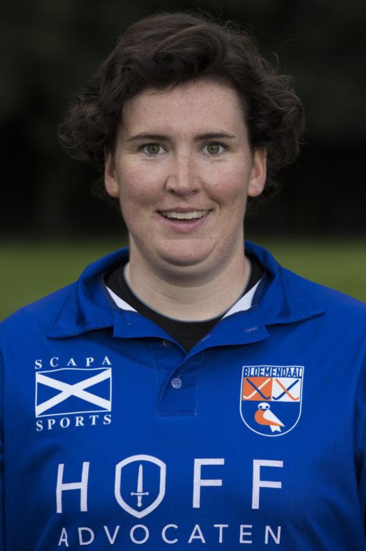 BLOEMENDAAL - keeper LAURA SLUIJTER van Dames I seizoen 2016-2017.    COPYRIGHT KOEN SUYK
