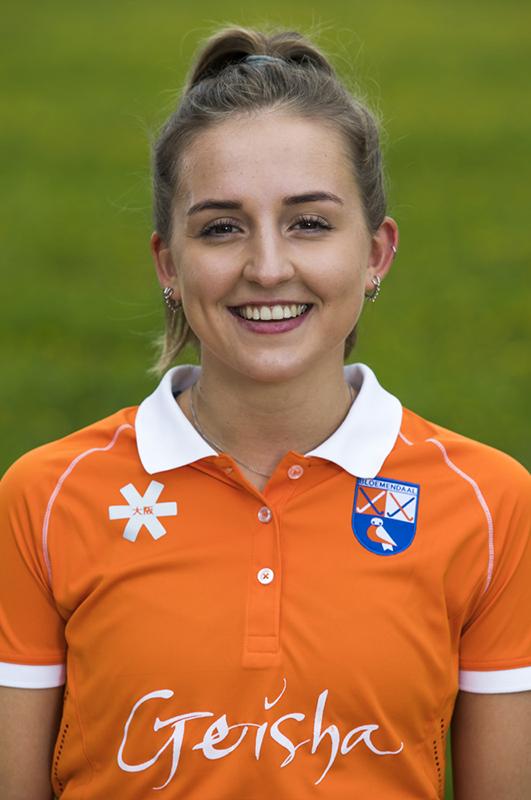 BLOEMENDAAL - Bodine Boelaars (Bldaal)  .  Bloemendaal  Dames I seizoen 2018/2019. COPYRIGHT KOEN SUYK