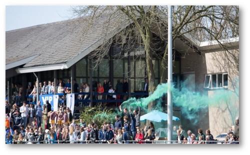 Push-voorzitter Menno Woldhuis hoopt dat de zijlijn binnenkort weer vol staat met enthousiaste fans