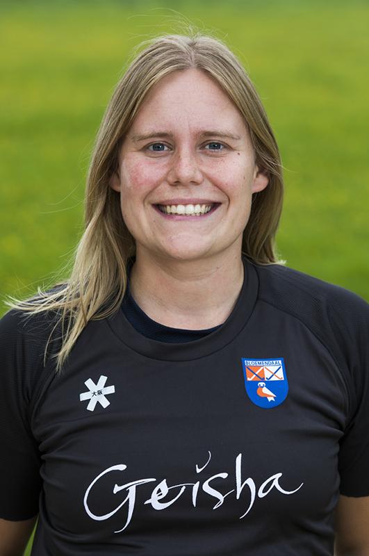 BLOEMENDAAL - keeper Diana Beemster (Bldaal)  Bloemendaal  Dames I seizoen 2018/2019. COPYRIGHT KOEN SUYK