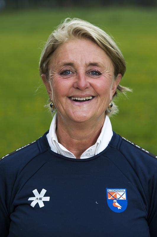 BLOEMENDAAL - manager Edith Karsten (Bldaal) .  Bloemendaal  Dames I seizoen 2018/2019. COPYRIGHT KOEN SUYK
