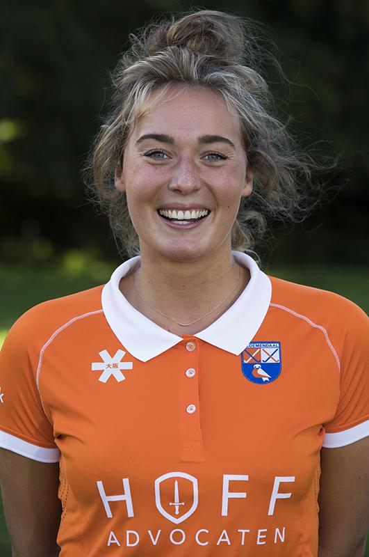 Bloemendaal - Ekki Lemmink  (Bl'daal) .  Dames I , seizoen hoofdklasse hockey, 2017-2018.  COPYRIGHT KOEN SUYK