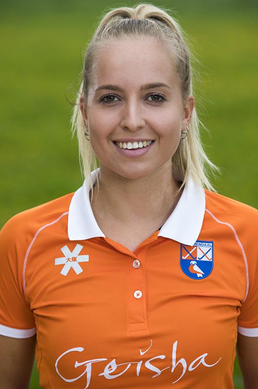 BLOEMENDAAL - Fee Schreuder (Bldaal)   Bloemendaal  Dames I seizoen 2018/2019. COPYRIGHT KOEN SUYK