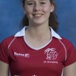 UTRECHT ,  keeper IRIS VAN NIEKERK .    KAMPONG Dames I, seizoen 2016-2017. copyright Koen Suyk