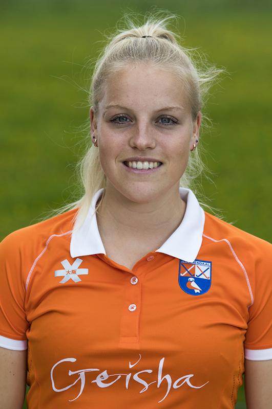 BLOEMENDAAL - Kim van Leeuwen (Bldaal).  Bloemendaal  Dames I seizoen 2018/2019. COPYRIGHT KOEN SUYK