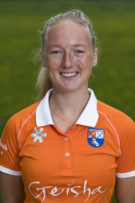 BLOEMENDAAL - Laurien Boot (Bldaal)   .  Bloemendaal  Dames I seizoen 2018/2019. COPYRIGHT KOEN SUYK