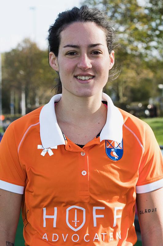 BLOEMENDAAL - Maria del Pilar Romang (Bl'daal)  .  hockey hoofdklasse dames Bloemendaal-Den Bosch (0-6) . COPYRIGHT KOEN SUYK