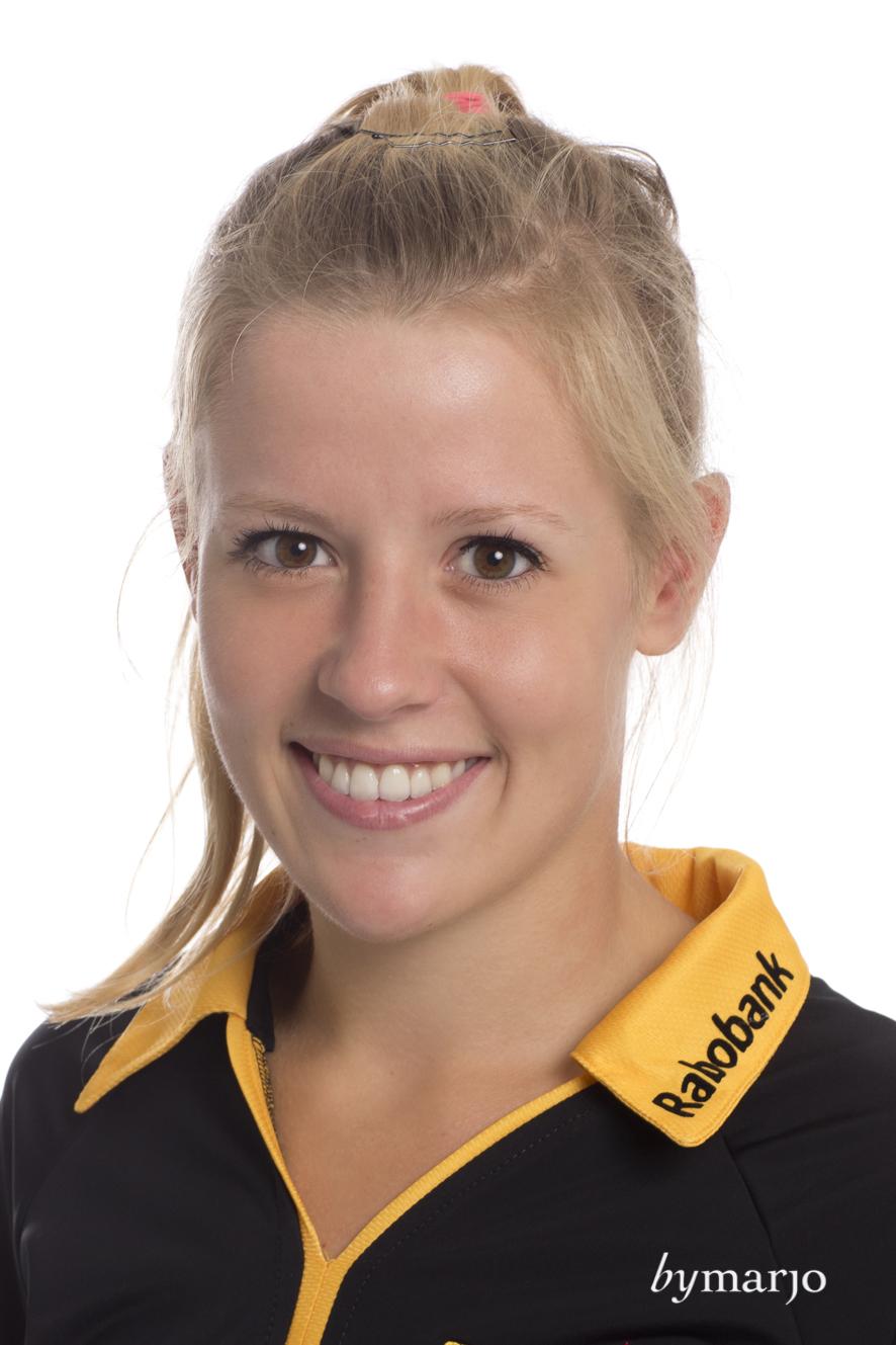 HCDB, Dames 1, seizoen 2013-2014,Marieke van der Vis, rugnummer 16