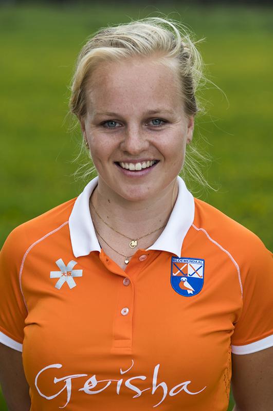BLOEMENDAAL - Melle Spruijt (Bldaal).  Bloemendaal  Dames I seizoen 2018/2019. COPYRIGHT KOEN SUYK