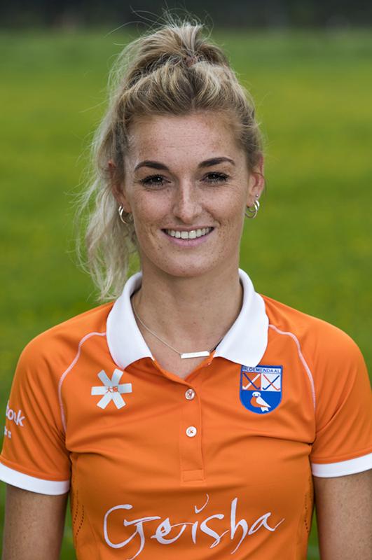 BLOEMENDAAL - Merel Aarts (Bldaal) .  Bloemendaal  Dames I seizoen 2018/2019. COPYRIGHT KOEN SUYK