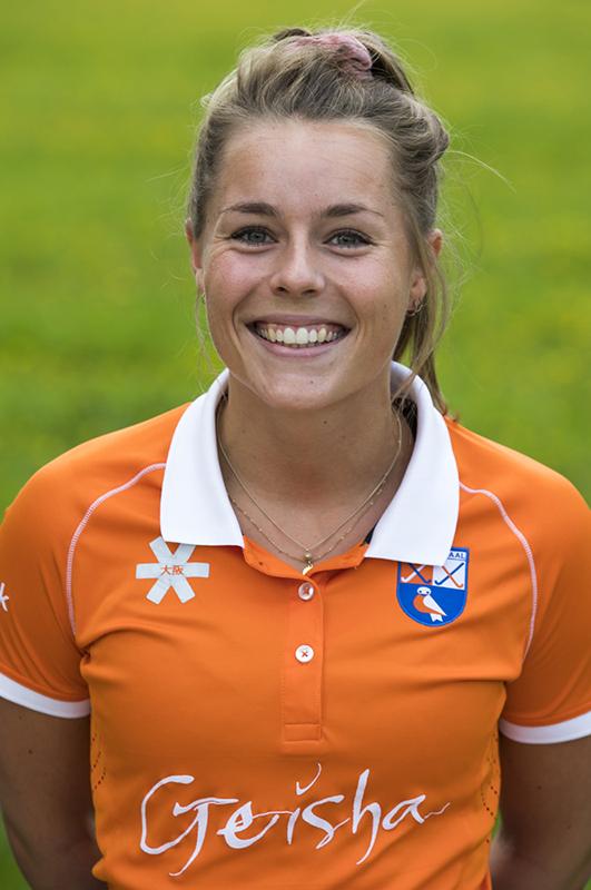 BLOEMENDAAL - Myrthe van Kesteren (Bldaal) Bloemendaal  Dames I seizoen 2018/2019. COPYRIGHT KOEN SUYK