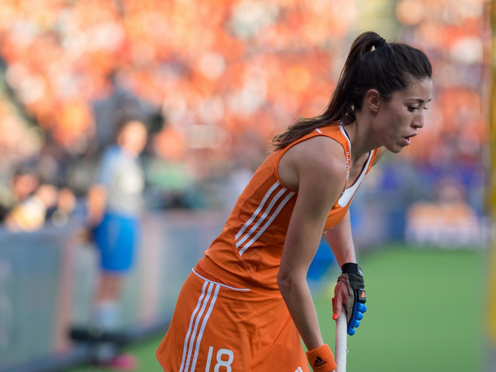 Nederland Oranje Argentinië dames WK RU Naomi van As