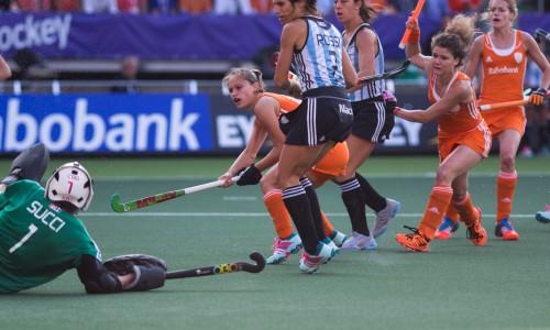 Nederland Oranje Argentinië dames WK RU Jonker