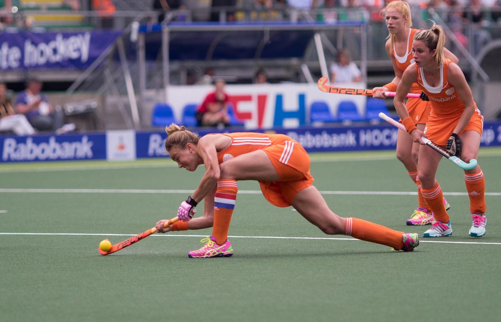 Nederland Oranje WK dames Paumen