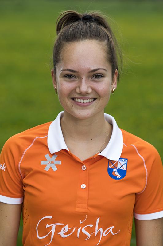 BLOEMENDAAL - Noor Smit (Bldaal)  Bloemendaal  Dames I seizoen 2018/2019. COPYRIGHT KOEN SUYK
