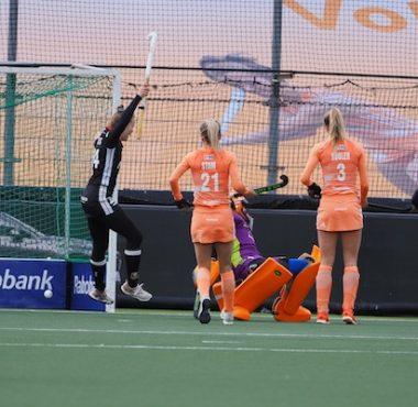 Duitsland scoort de 0-1 in de FIH Pro League tegen Oranje.