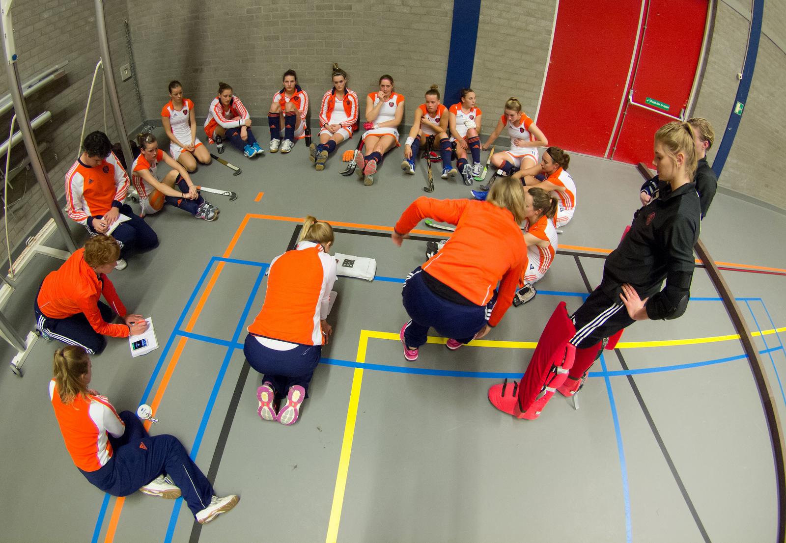 Oranje zaalhockey dames RU