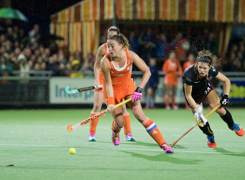 Oranje Nederland België dames RU Paumen