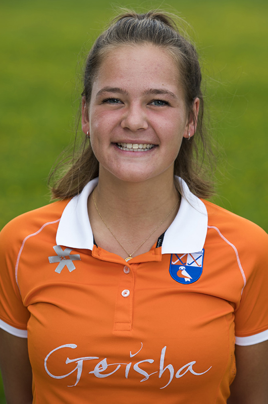 BLOEMENDAAL - Sanne Caarls (Bldaal).  Bloemendaal  Dames I seizoen 2018/2019. COPYRIGHT KOEN SUYK