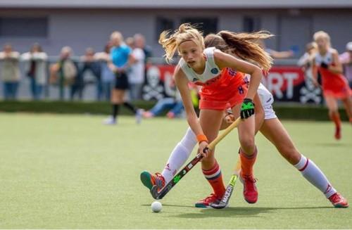 Daantje de Kruijff speelde voor haar blessure voor Oranje -18.