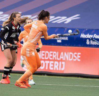 Malou Pheninckx speelde twee prima interlands met Oranje tegen Duitsland.